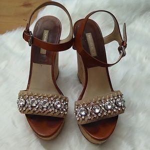 Michael Kors wedged rhinestone heels - size 10/40